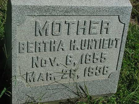 UNTIEDT, BERTHA - Scott County, Iowa | BERTHA UNTIEDT