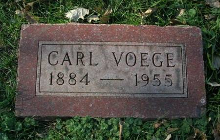 VOEGE, CARL - Scott County, Iowa   CARL VOEGE