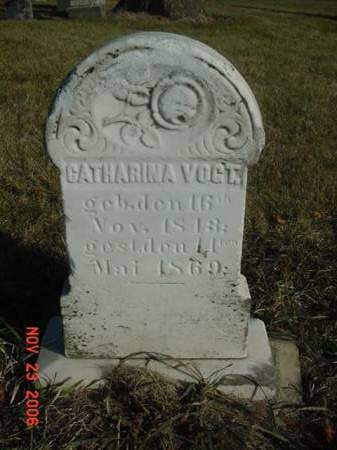 VOGT, CATHARINA - Scott County, Iowa | CATHARINA VOGT