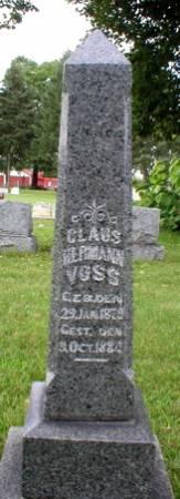 VOSS, CLAUS HERMANN - Scott County, Iowa   CLAUS HERMANN VOSS