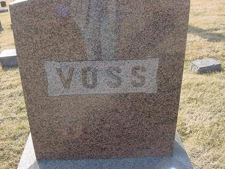 VOSS, FAMILY STONE - Scott County, Iowa | FAMILY STONE VOSS