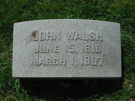 WALSH, JOHN - Scott County, Iowa | JOHN WALSH