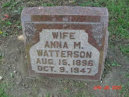 WATTERSON, ANNA M - Scott County, Iowa | ANNA M WATTERSON
