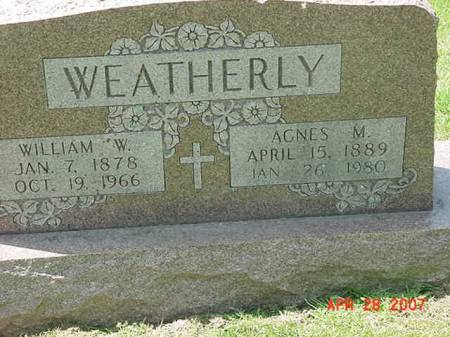 WEATHERLY, WILLIAM W - Scott County, Iowa | WILLIAM W WEATHERLY