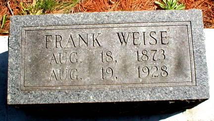 WEISE, FRANK - Scott County, Iowa | FRANK WEISE