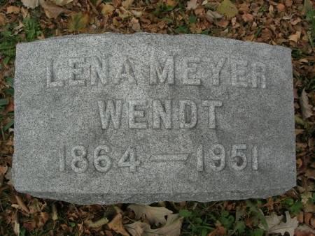 MEYER WENDT, LENA - Scott County, Iowa   LENA MEYER WENDT