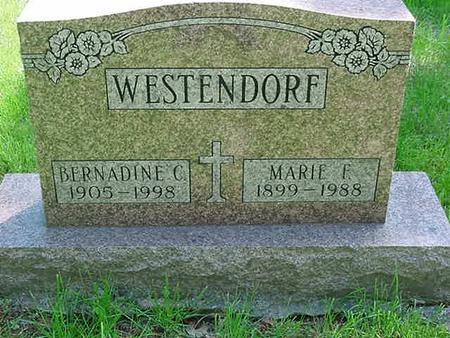 WESTENDORF, MARIE F - Scott County, Iowa | MARIE F WESTENDORF