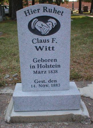 WITT, CLAUS F - Scott County, Iowa | CLAUS F WITT