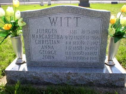 WITT, GEORGE - Scott County, Iowa | GEORGE WITT