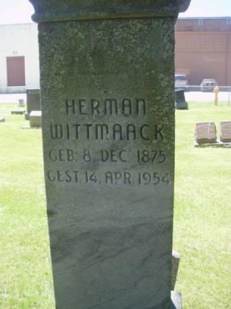 WITTMACK, HERMAN - Scott County, Iowa   HERMAN WITTMACK