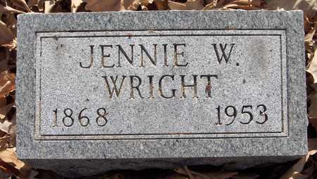 WRIGHT, JENNIE - Scott County, Iowa   JENNIE WRIGHT