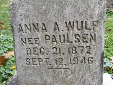 PAULSEN WULF, ANNA - Scott County, Iowa | ANNA PAULSEN WULF