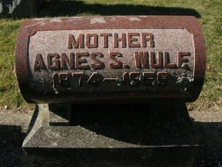 WULF, AGNES S. - Scott County, Iowa   AGNES S. WULF