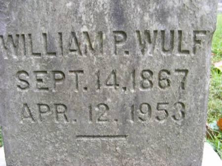 WULF, WILLIAM P. - Scott County, Iowa | WILLIAM P. WULF