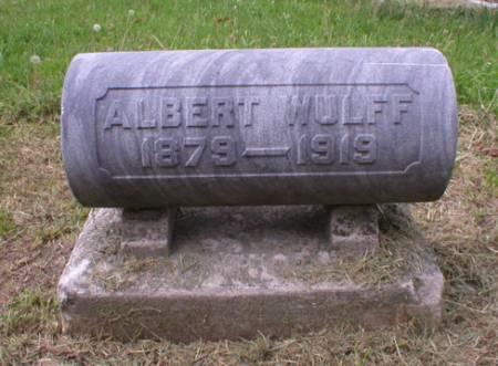WULFF, ALBERT - Scott County, Iowa   ALBERT WULFF