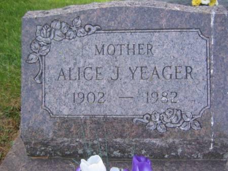 YEAGER, ALICE J. - Scott County, Iowa | ALICE J. YEAGER