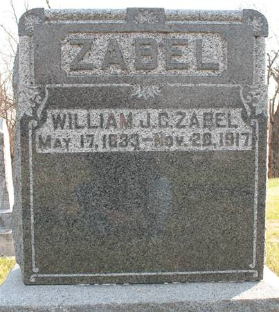 ZABEL, WILLIAM J.C. - Scott County, Iowa | WILLIAM J.C. ZABEL