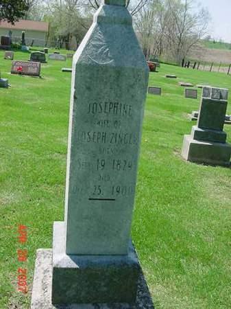 ZINGER, JOSEPHINE - Scott County, Iowa   JOSEPHINE ZINGER