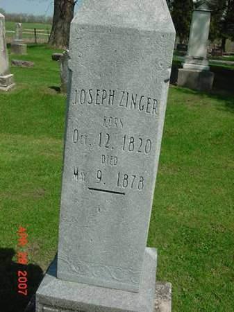 ZINGER, JOSEPH - Scott County, Iowa | JOSEPH ZINGER