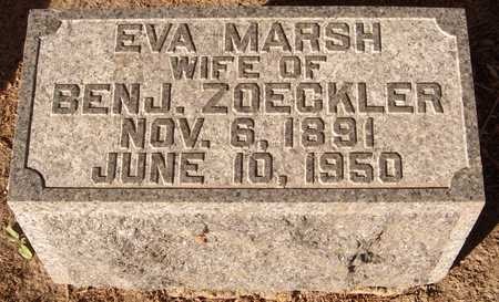 MARSH ZOECKLER, EVA - Scott County, Iowa | EVA MARSH ZOECKLER