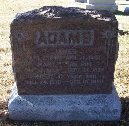 ADAMS, JAMES - Shelby County, Iowa | JAMES ADAMS