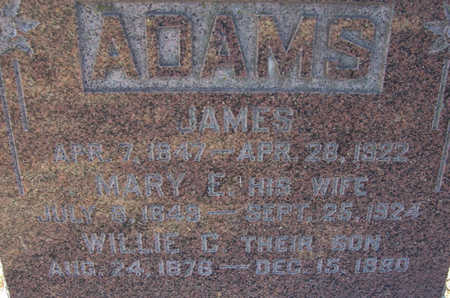 ADAMS, JAMES (CLOSE-UP) - Shelby County, Iowa | JAMES (CLOSE-UP) ADAMS