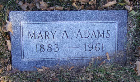 ADAMS, MARY - Shelby County, Iowa | MARY ADAMS