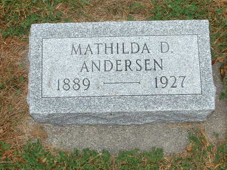 ANDERSEN, MATHILDA - Shelby County, Iowa | MATHILDA ANDERSEN