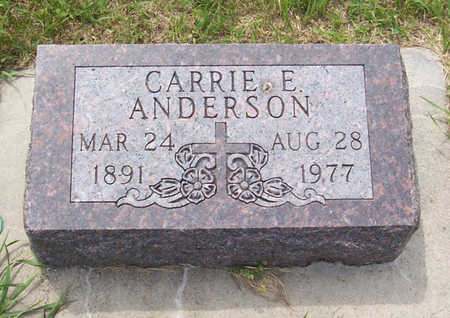 ANDERSON, CARRIE E. - Shelby County, Iowa | CARRIE E. ANDERSON