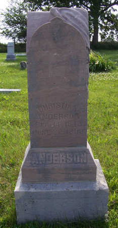 ANDERSON, CHRISTIAN - Shelby County, Iowa | CHRISTIAN ANDERSON