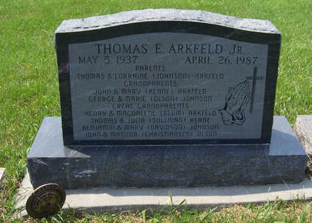 ARKFELD, THOMAS E., JR. - Shelby County, Iowa | THOMAS E., JR. ARKFELD