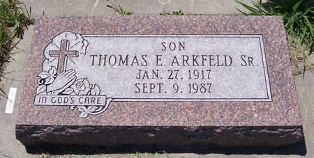 ARKFELD, THOMAS E., SR. - Shelby County, Iowa | THOMAS E., SR. ARKFELD