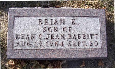 BABBITT, BRIAN K. - Shelby County, Iowa | BRIAN K. BABBITT