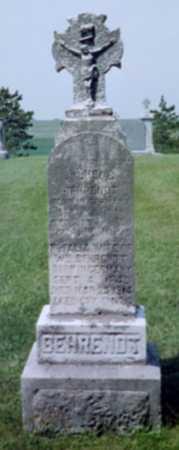 GALL BEHRENDT, ROSALIA - Shelby County, Iowa | ROSALIA GALL BEHRENDT