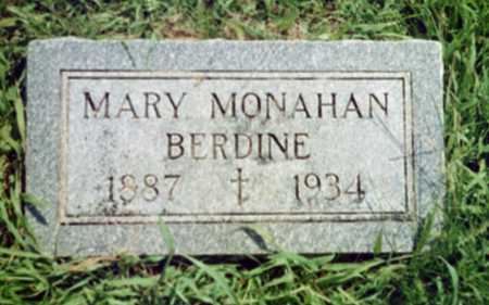 MONAHAN BERDINE, MARY EVELINE - Shelby County, Iowa | MARY EVELINE MONAHAN BERDINE
