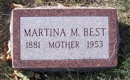 BEST, MARTINA M. (MOTHER) - Shelby County, Iowa | MARTINA M. (MOTHER) BEST