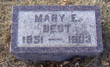 BEST, MARY E. - Shelby County, Iowa | MARY E. BEST