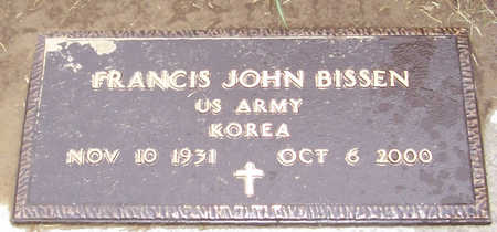 BISSEN, FRANCIS JOHN (MILITARY) - Shelby County, Iowa | FRANCIS JOHN (MILITARY) BISSEN