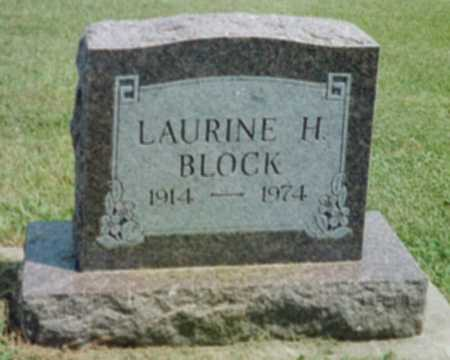 BLOCK, LAURINE H. - Shelby County, Iowa | LAURINE H. BLOCK