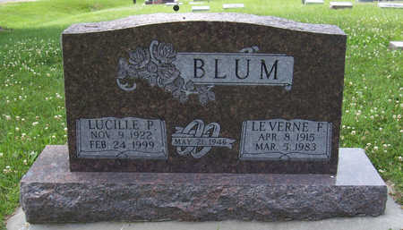 BLUM, LEVERNE F. - Shelby County, Iowa | LEVERNE F. BLUM