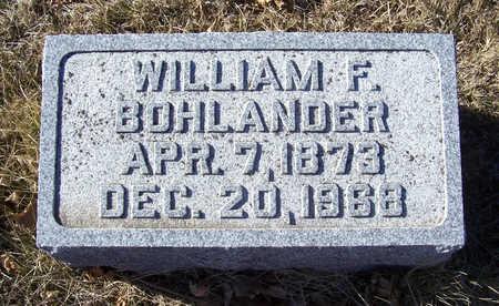 BOHLANDER, WILLIAM F. - Shelby County, Iowa | WILLIAM F. BOHLANDER