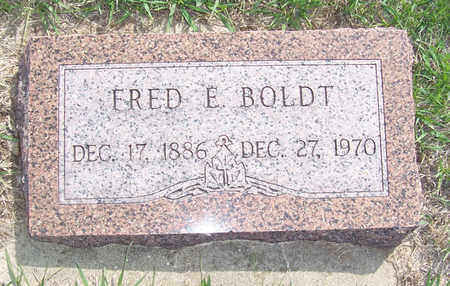 BOLDT, FRED E. - Shelby County, Iowa | FRED E. BOLDT