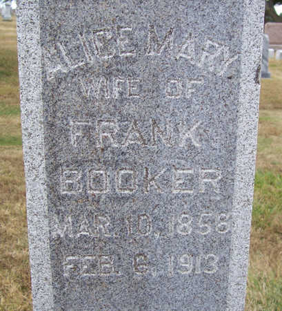 BOOKER, ALICE MARY - Shelby County, Iowa | ALICE MARY BOOKER