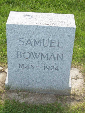 BOWMAN, SAMUEL - Shelby County, Iowa | SAMUEL BOWMAN