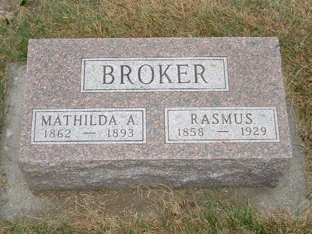 BROKER, MATHILDA A - Shelby County, Iowa | MATHILDA A BROKER