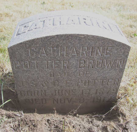 POTTER BROWN, CATHARINE - Shelby County, Iowa | CATHARINE POTTER BROWN