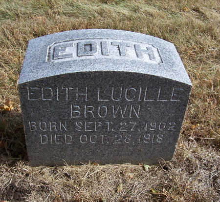BROWN, EDITH LUCILLE - Shelby County, Iowa | EDITH LUCILLE BROWN