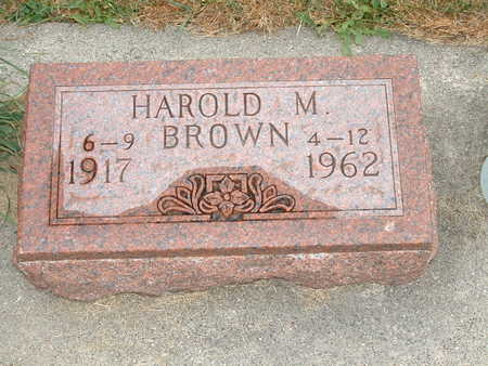 BROWN, HAROLD M - Shelby County, Iowa | HAROLD M BROWN