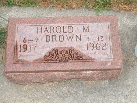 BROWN, HAROLD M - Shelby County, Iowa   HAROLD M BROWN