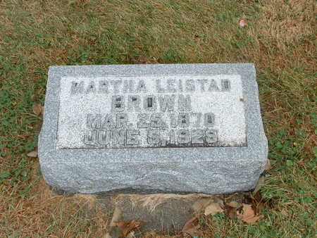 LEISTAD BROWN, MARTHA - Shelby County, Iowa | MARTHA LEISTAD BROWN